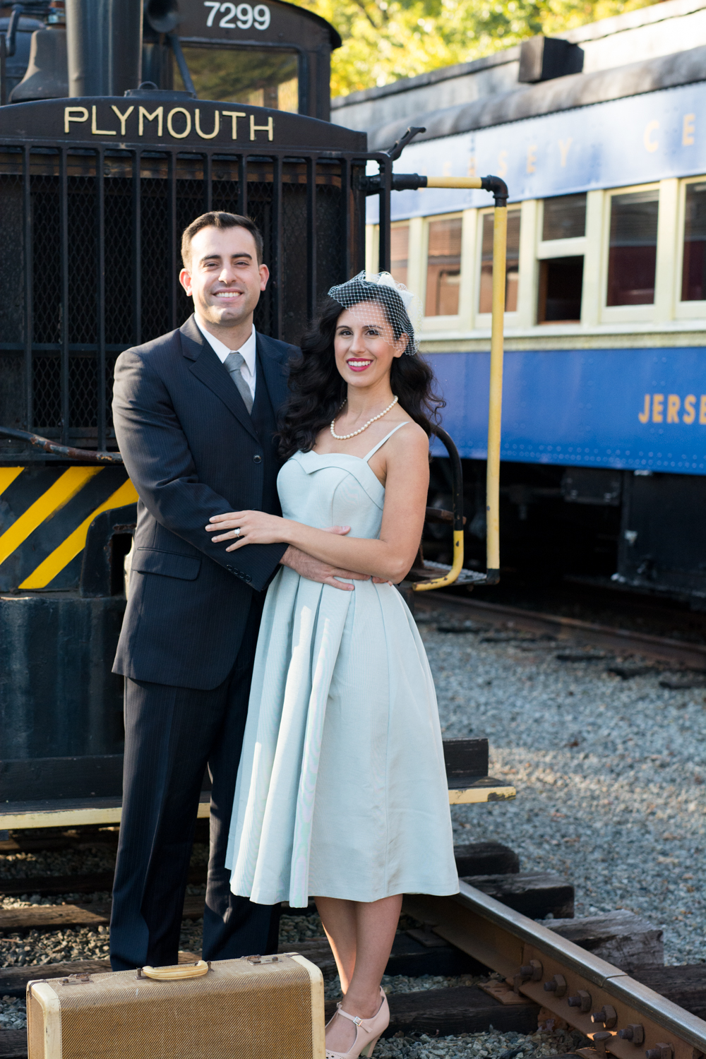 Michelle and Joe- Whippany Railway Musem 1950s Engagement - New Jersey -Olivia Christina Photography-6.jpg