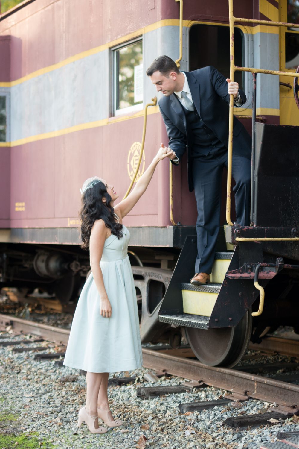 Michelle and Joe- Whippany Railway Musem 1950s Engagement - New Jersey -Olivia Christina Photography-85.jpg