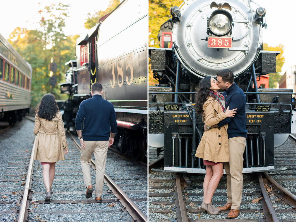 M+J Engagement Photos 9- Whippany Railway Museum- New Jersey -Olivia Christina Photography.jpg