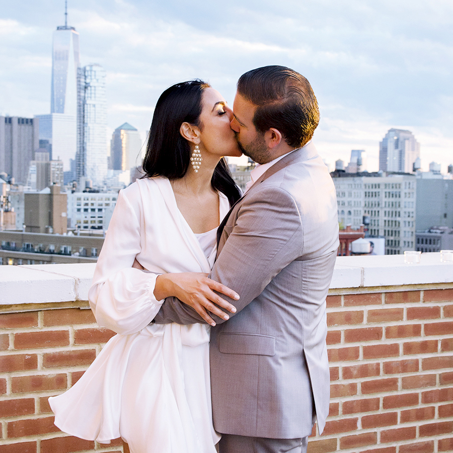 so this is love - Ilan+Rojika's New York City Rooftop Elopement