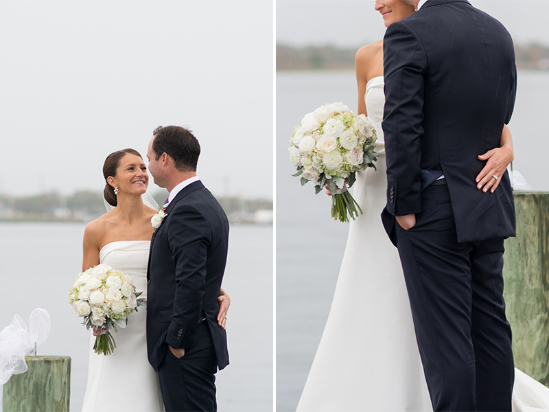 Maggie+Bobby- Bride and Groom Portraits on Dock in Bay- Mantoloking Yacht Club Wedding- Olivia Christina Photo.jpg