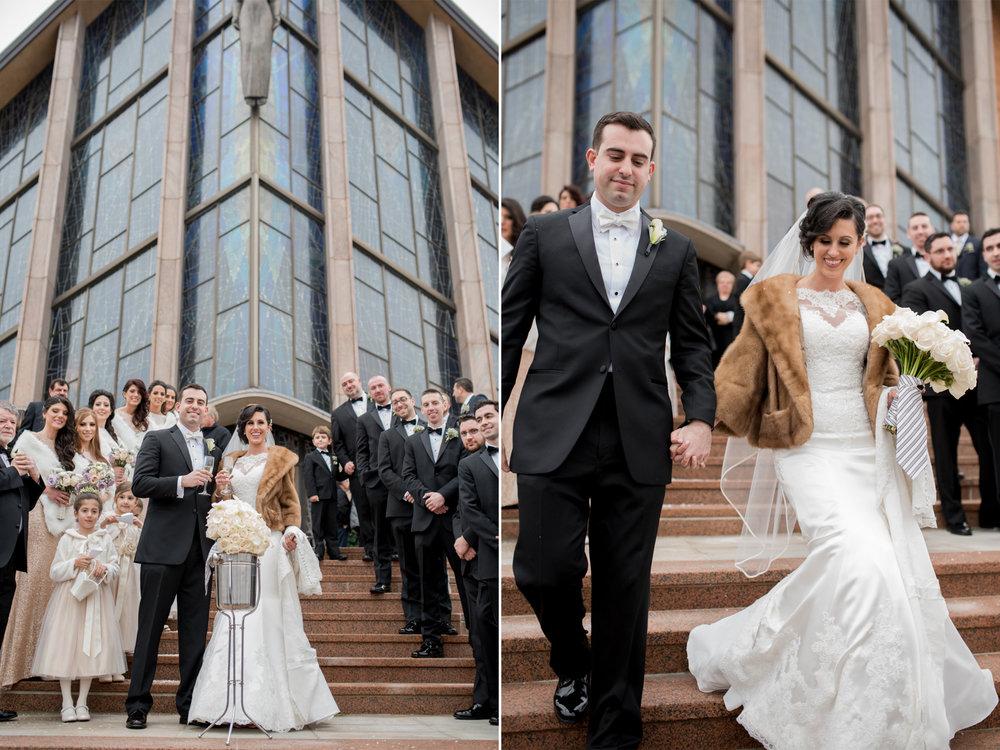 Michelle+Joe- Bride and Groom Leaving Church - Ryland Inn Winter Wedding - New Jersey - Olivia Christina Photo.jpg