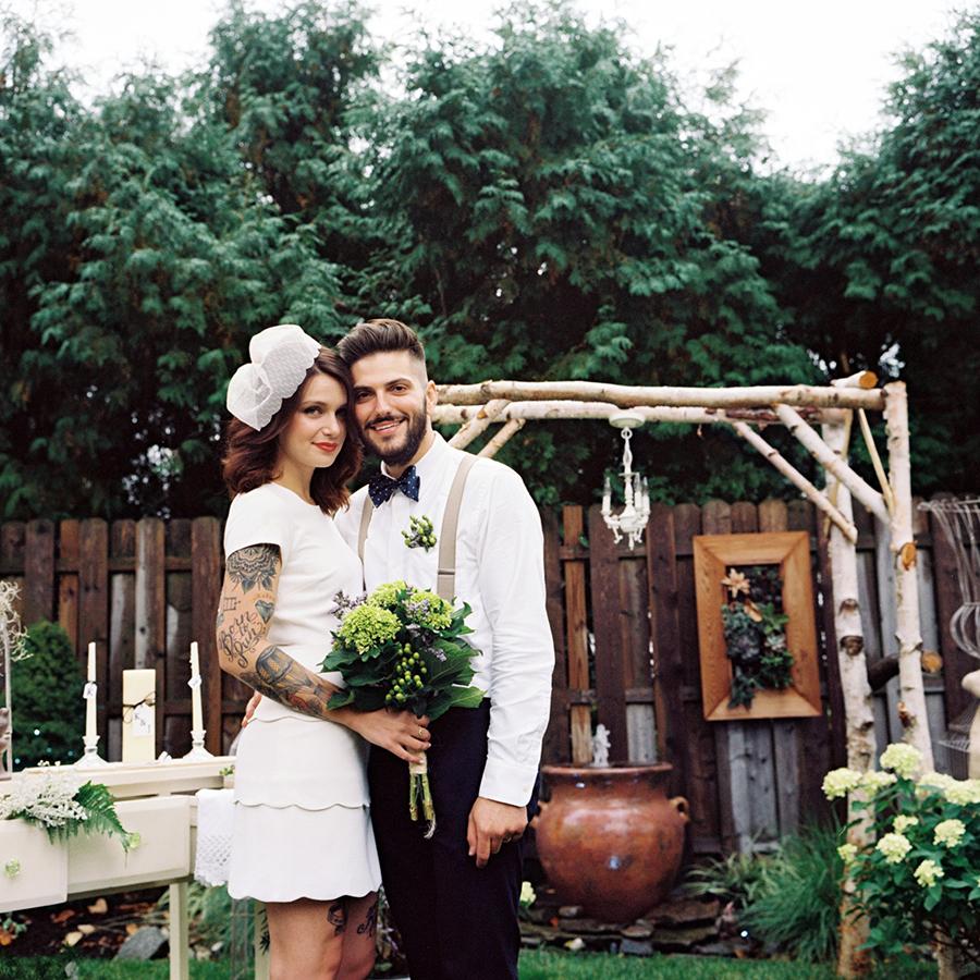 Backyard Rustic Elegance Wedding- Tattooed Bride- New Jersey- Olivia Christina Photography