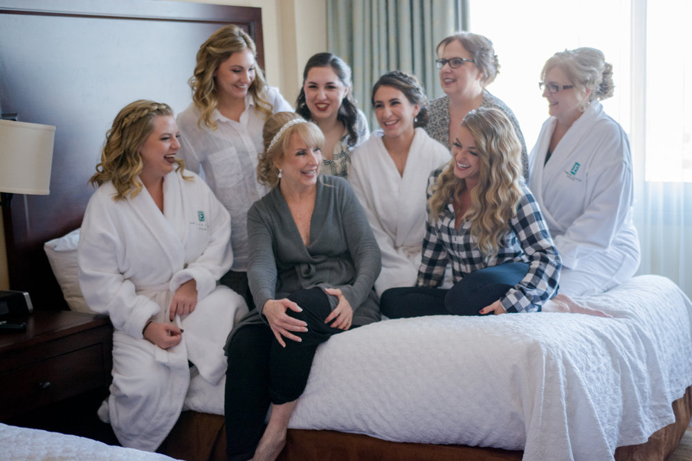 Bridal Party Getting Ready- New Jersey Weddings- Olivia Christina Photography