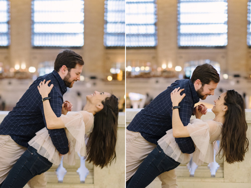 Anahi+David-NYC Grand Central Engagement Session- Dancing Dip- Olivia Christina Photo.jpg