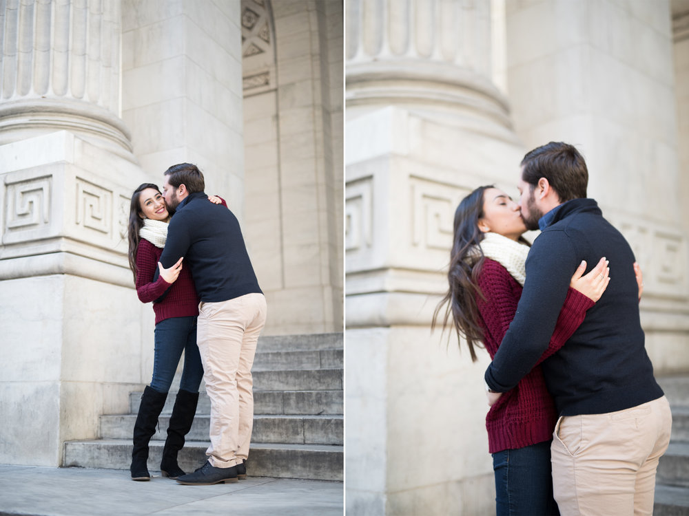 Anahi+David-NYC Grand Central Engagement Session- New York Public Library Steps- Olivia Christina Photo.jpg