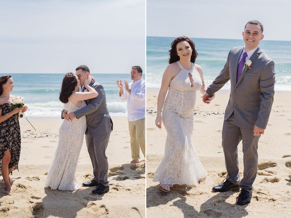 Caitlyn+Anthony- Belmar Beach Elopement- First Kiss Mr and Mrs- New Jersey Weddings- Olivia Christina Photo.jpg