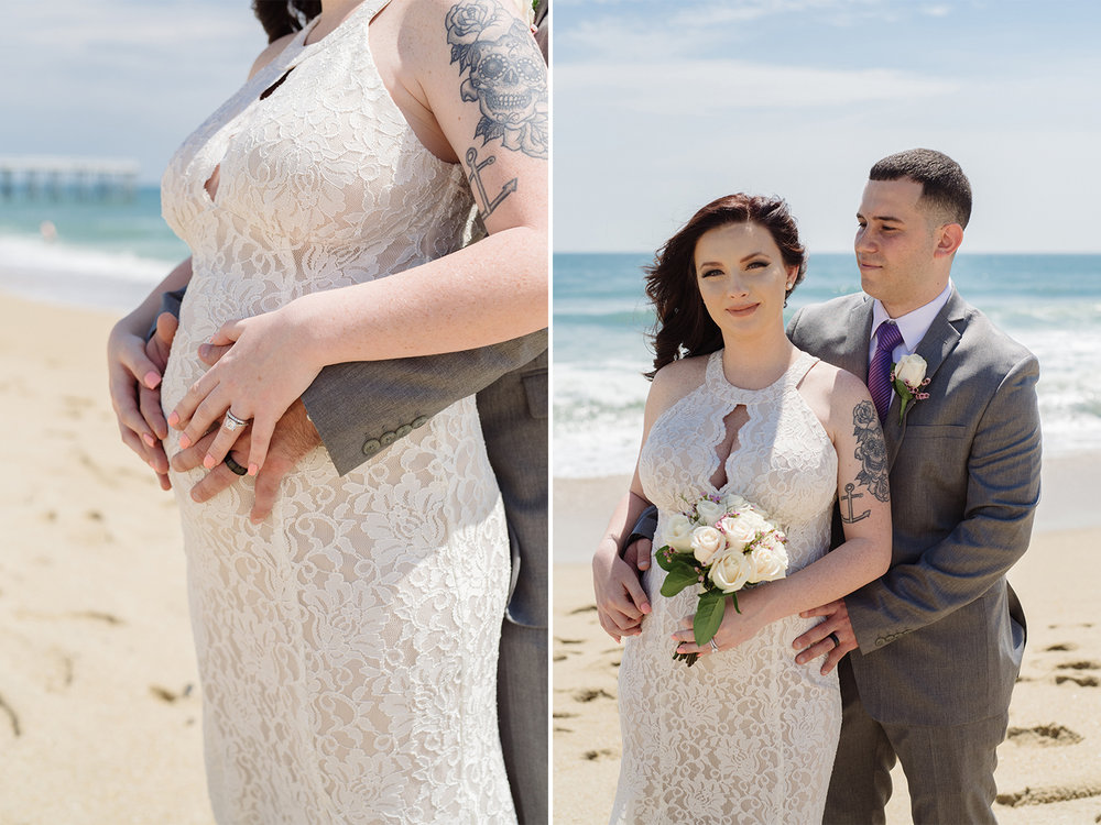 Caitlyn+Anthony- Belmar Beach Elopement- Bride and Groom Maternity Portraits- New Jersey Weddings- Olivia Christina Photo.jpg