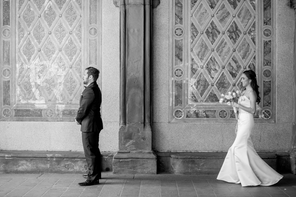 Central Park Elopement- First Look Bethesda Terrace- New York Weddings- Olivia Christina Photography