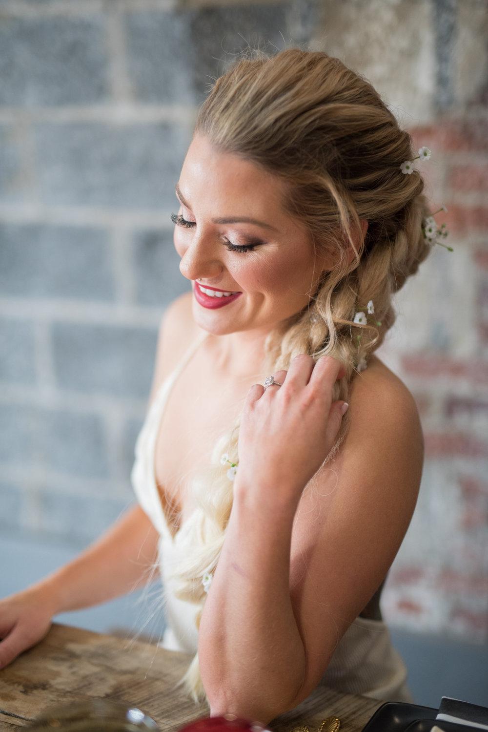 Bride Portraits- Jesse Fox  Hair Stylist- New Jersey Weddings- Olivia Christina Photography