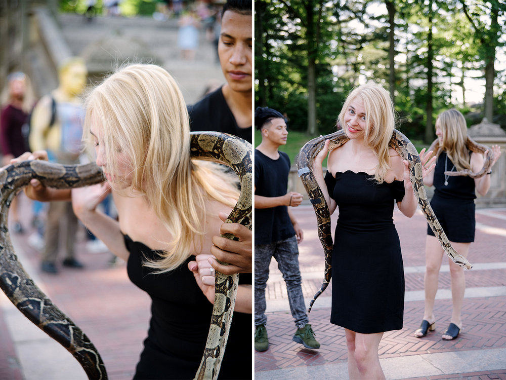Bachelorette Party Photoshoot-Central Park-New York City- Olivia Christina Photo-Brittany Spears Snake Moment.jpg