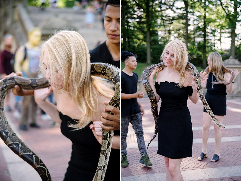 Bachelorette Party Photoshoot-Central Park-New York City- Olivia Christina Photo-Brittany Spears Snake Moment.jpg