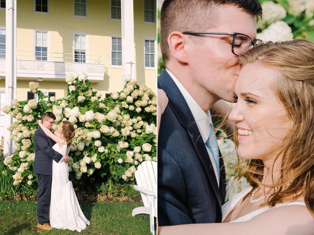 Carolyn+Dominic- Bride and Groom Portraits- Hydrangea Bushes- Congress Hall Wedding- Cape May New Jersey- Olivia Christina Photo-44.jpg