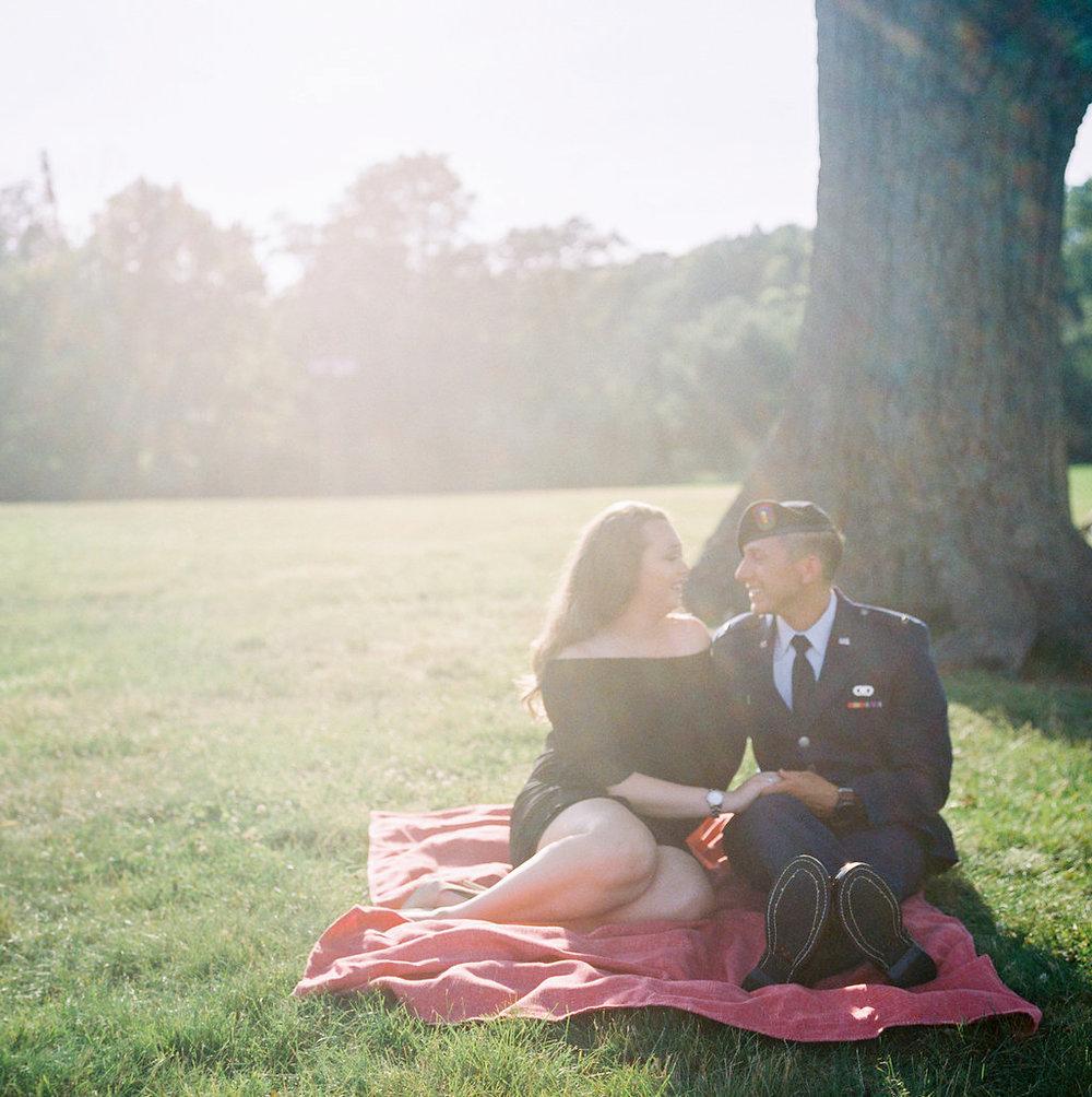 Evan+Meghan's Eagle Rock Reservation Engagement- Film Photography-Olivia Christina Photo