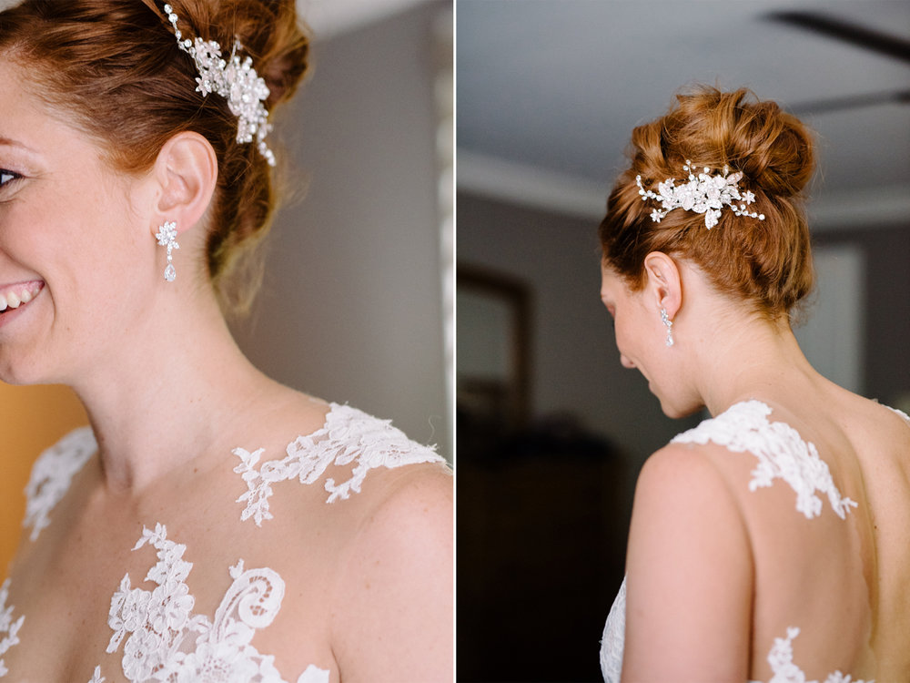 Lauren+AJ- BHLD Dress Diamond Drop Earrings Crystal Hair Piece- DIY Backyard Wedding- New Jersey- Olivia Christina Photo.jpg