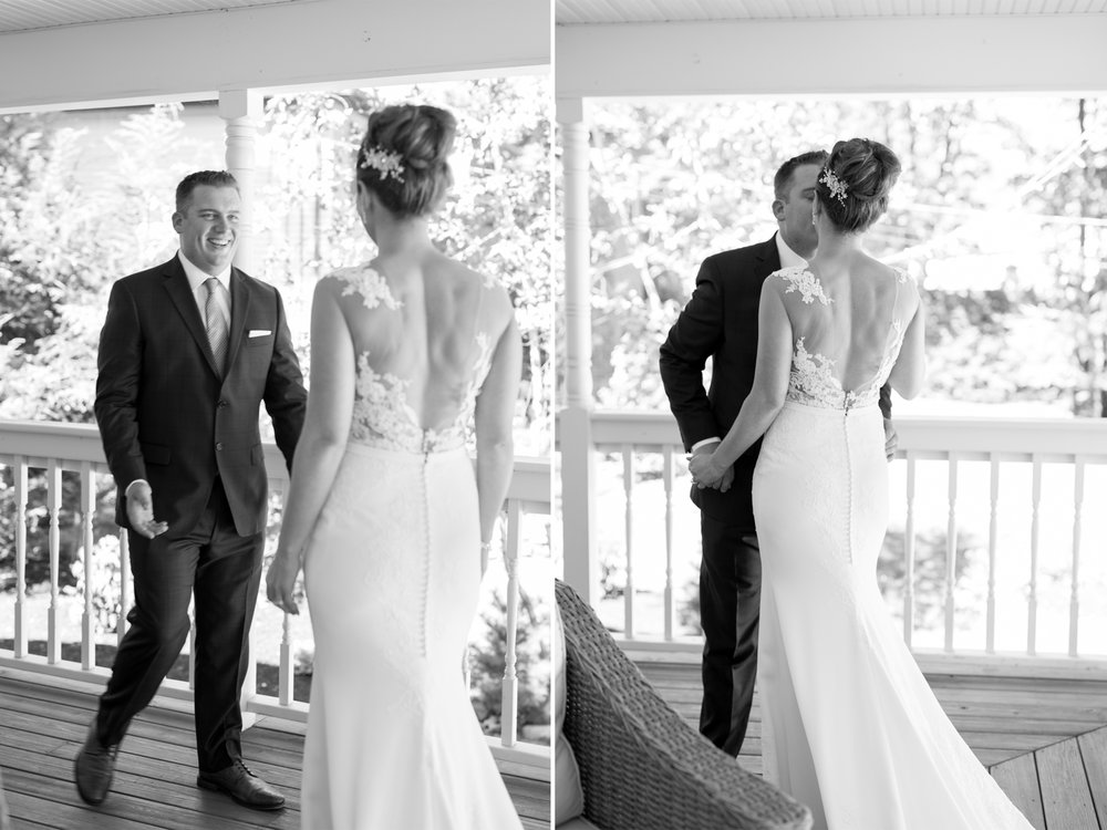 Lauren+AJ- First Look Groom Reaction- DIY Backyard Wedding- New Jersey- Olivia Christina Photo.jpg