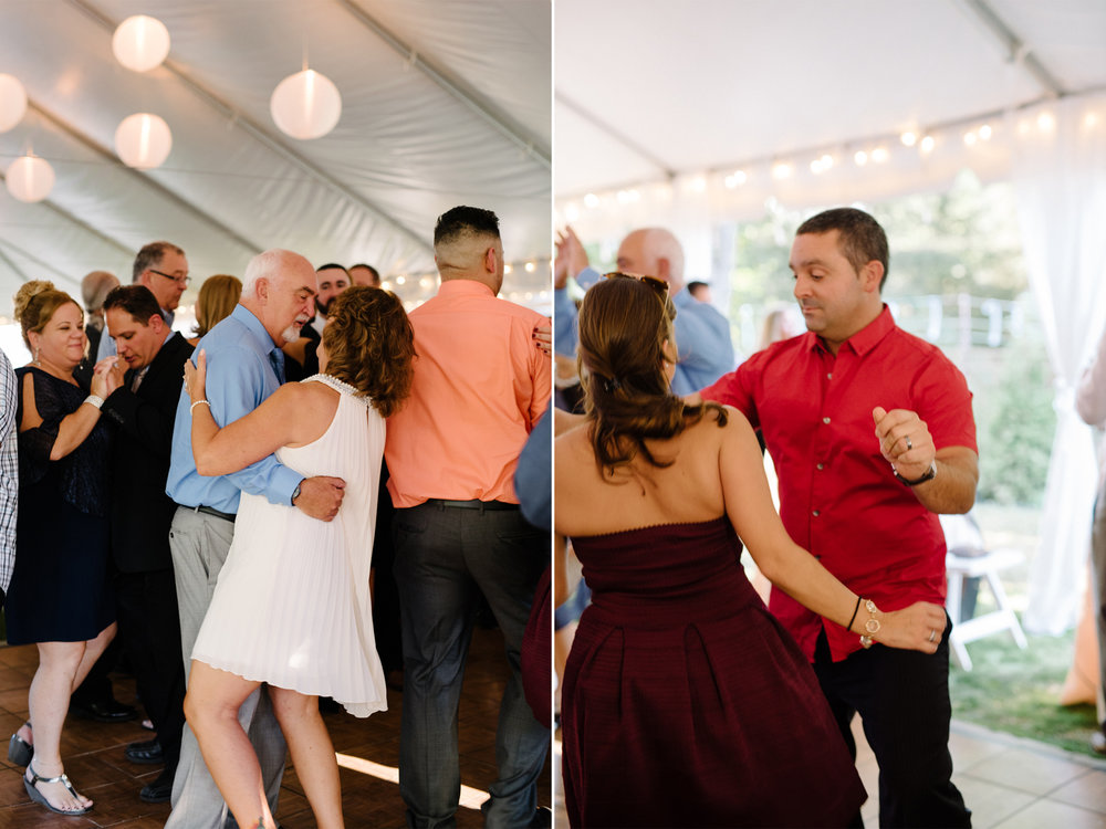 Lauren+AJ- Guests Dancing Under Tent- DIY Backyard Wedding- New Jersey- Olivia Christina Photo.jpg