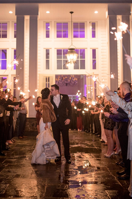 Michelle+Joe- Sparkler Exit Bride and Groom Kiss- The Ryland Inn- New Jersey-Olivia Christina Photo -1.JPG