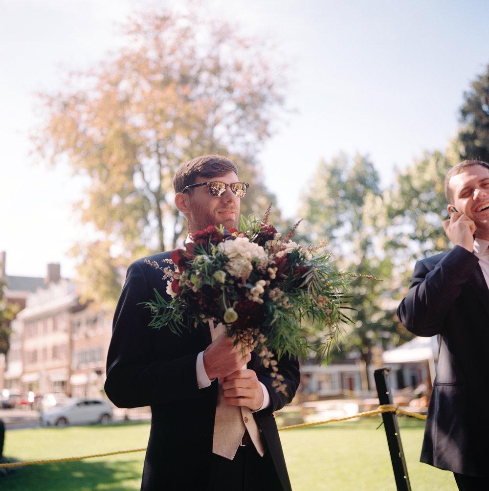Princeton Wedding- Film Photography-Viburnum Designs Wedding Bouquet- Olivia Christina Photography.jpg