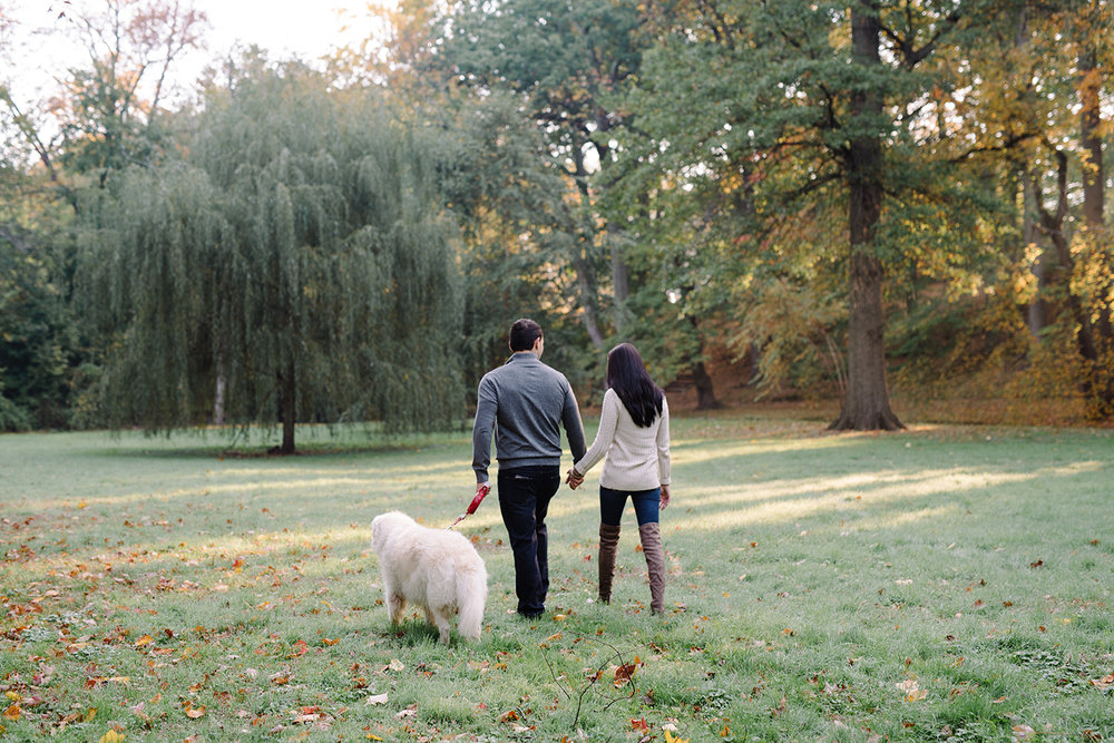 Melissa+Jeff- Local Park Engagement Session with Dog- Booth Park Nutley- New Jersey-Olivia Christina Photo-55.jpg