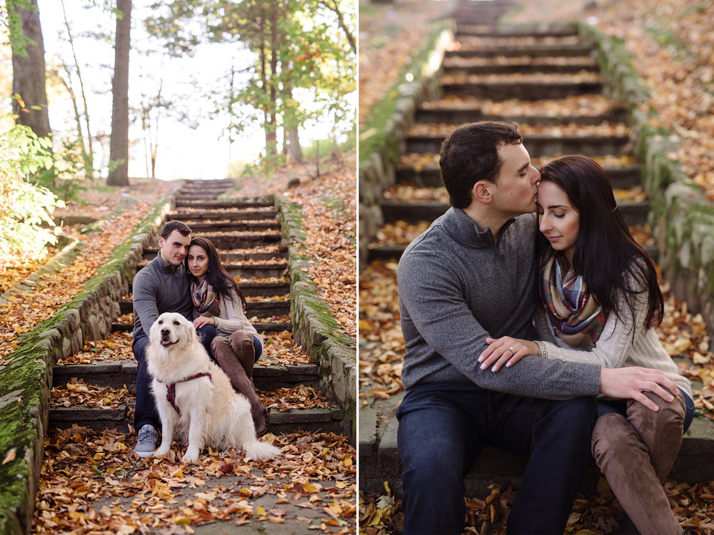 Melissa+Jeff- Local Park Engagement Session with Dog- Booth Park Nutley- New Jersey-Olivia Christina Photo-8.jpg
