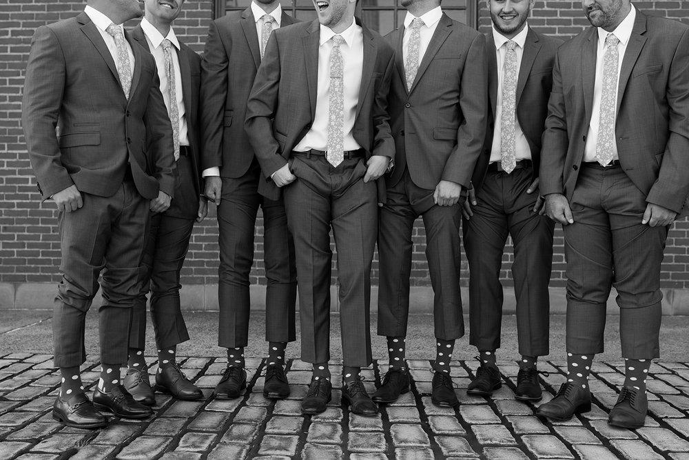 Jen+Tom- Liberty House Wedding- Groomsmen with fun Socks- Liberty State Park Jersey City- New Jersey- Olivia Christina Photo-1.JPG