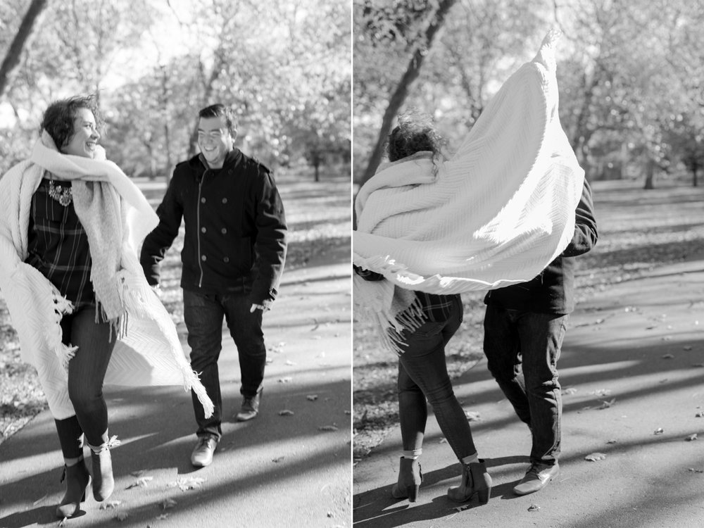 Melissa+Kenny- Watsessing Park Fall Engagement Session-Laughing Black and White- Bloomfield New Jersey- Olivia Christina Photo.JPG