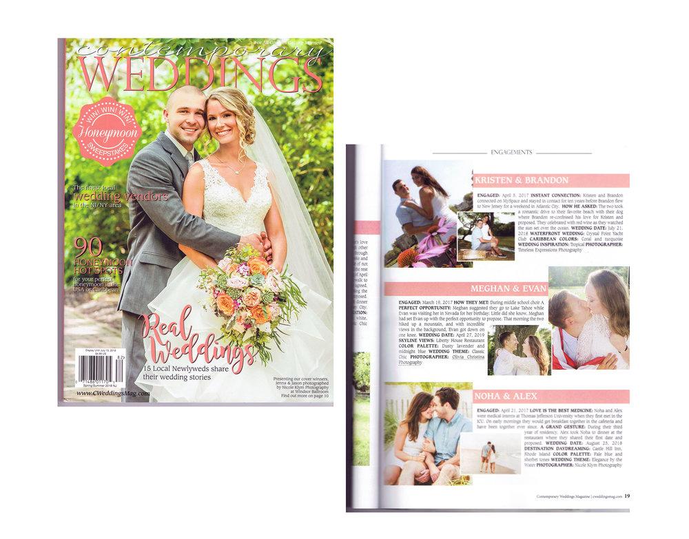 Contemporary Weddings Magazine- Meghan + Evan