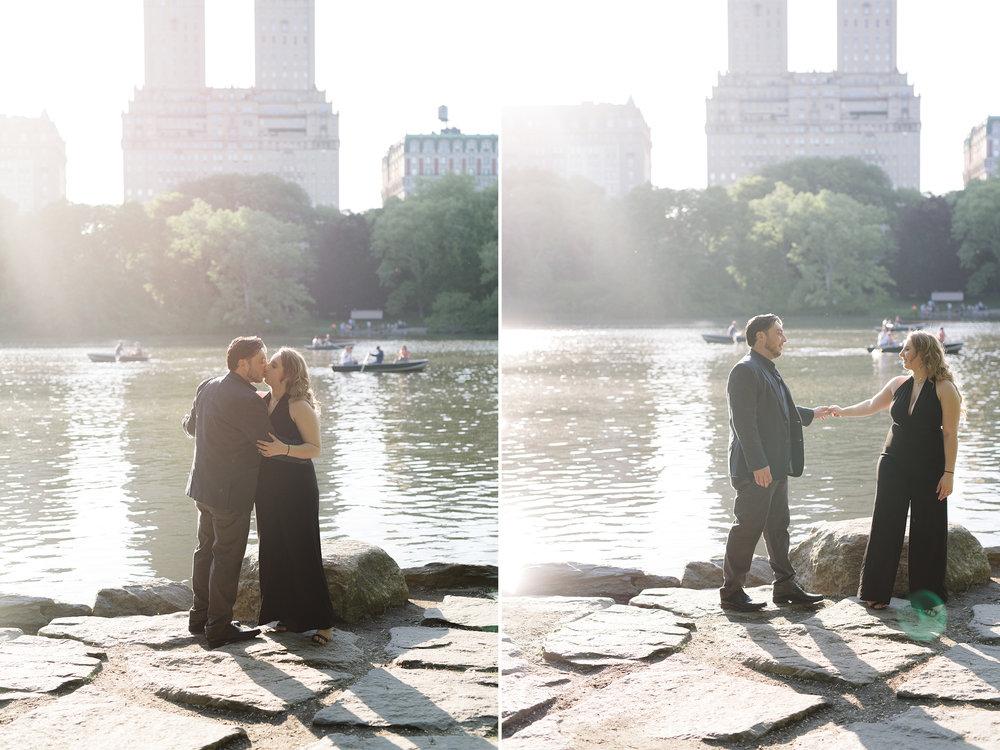 Cristina + CJ- Central Park Sunset Engagement Session- Lake and Skyline- New York City- Olivia Christina Photo.jpg