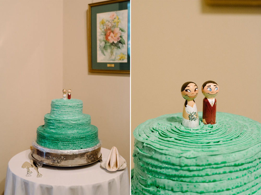 Mariangel + Kieran- Oakeside Mansion Wedding-Wedding Cake Wooden Topper- Bloomfield NJ- Olivia Christina Photo.jpg