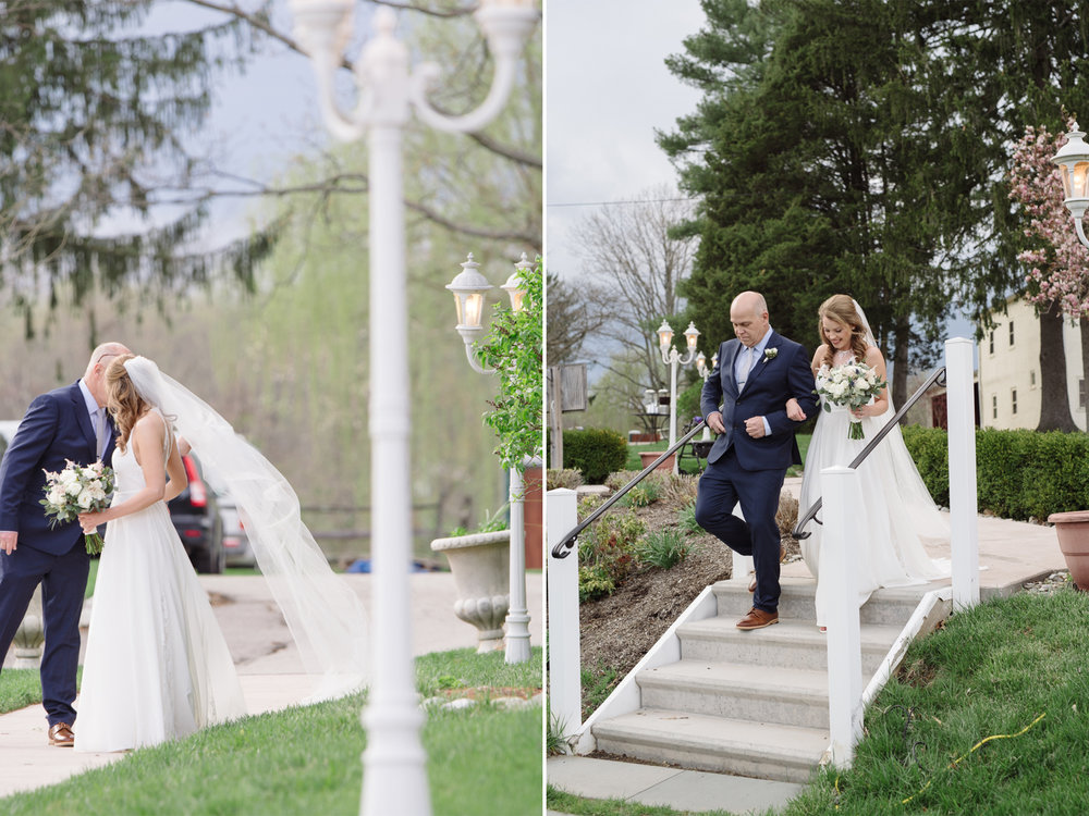 The Manor House at Prophecy Creek- Steph and Rob- Bride and Father Walking Down Aisle- Pennsylvania- Olivia Christina Photo.jpg
