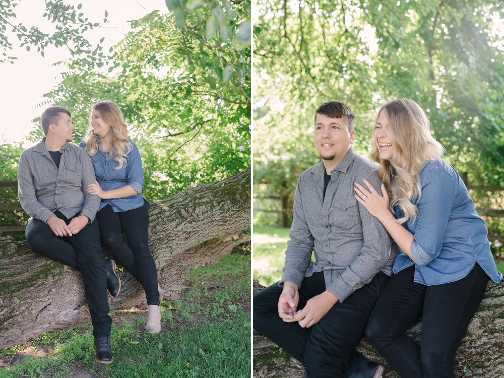 Updike Farmstead- Amanda and Pete- Laughing Sitting in Tree- Princeton New Jersey- Olivia Christina Photo.jpg