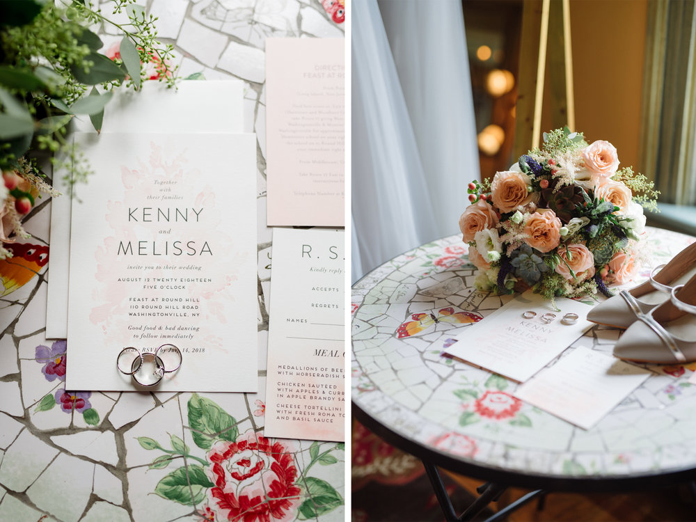 Feast at Round Hill Wedding-Kenny + Melissa- Wedding Bouquet and Wedding Invitations-Hudson Valley New York - Olivia Christina Photo-1.jpg