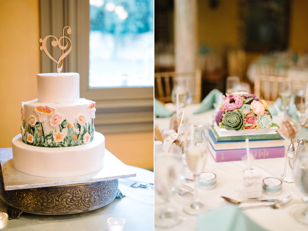 Feast at Round Hill Wedding-Kenny + Melissa- Wedding Cake Book Centerpieces-Hudson Valley New York - Olivia Christina Photo-1.jpg