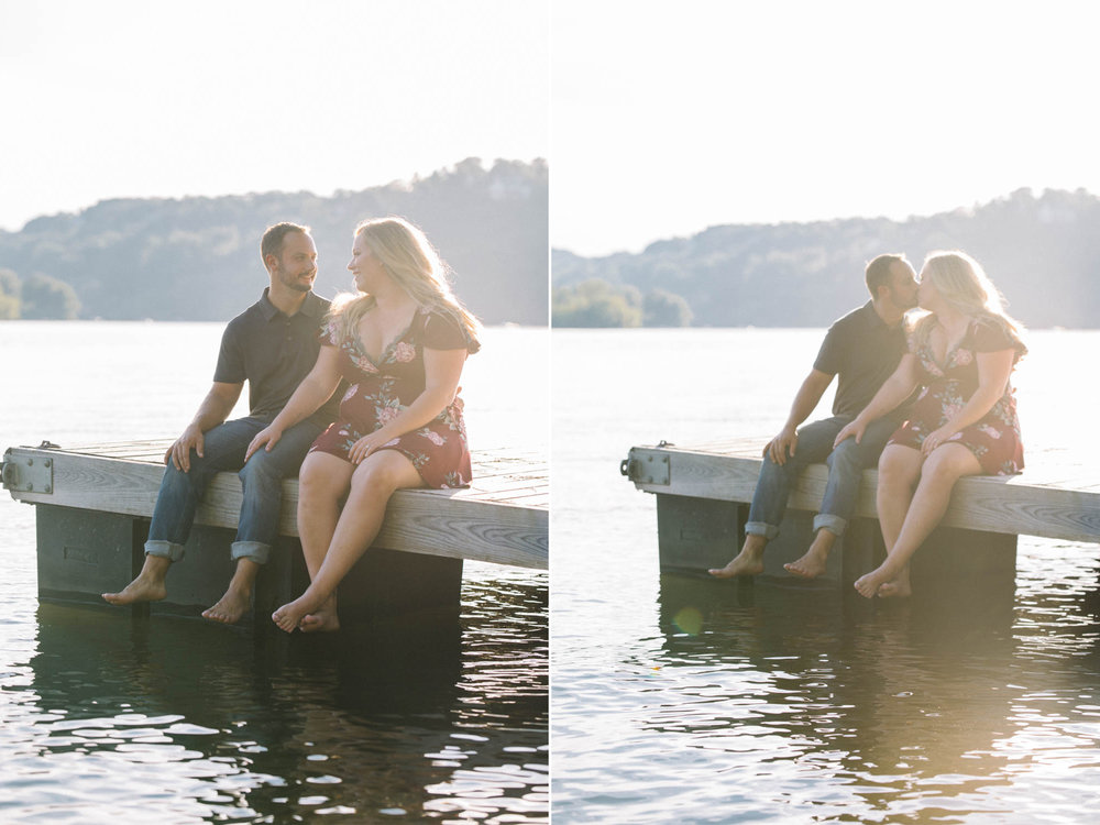 Sitting on a Dock on a Lake- Sunset Engagement Session- Lake Mohawk Sparta New Jersey- Olivia Christina Photo.jpg