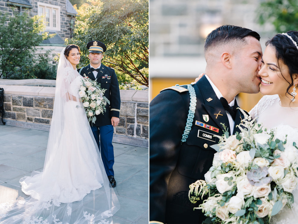 Military Wedding- West Point Army Academy-Bride and Groom Portrait-Most Holy Trinity Church- Olivia Christina Photo.jpg