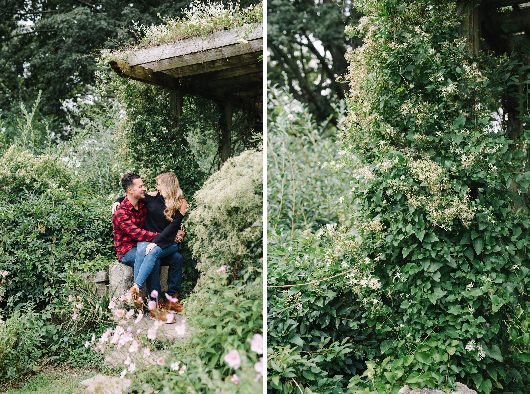NJ Botanical Gardens Engagement Photos- Skylands Manor- Lauren and Mike- Garden Photos-