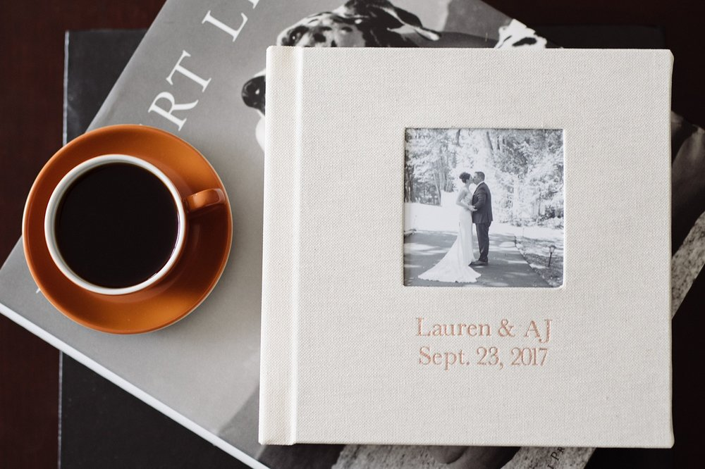 Do you offer custom wedding albums? - I do and they are gor-GEOUS if I do say so myself. With leather or linen cover options, these albums have the timeless style that your wedding photos will have and the flat lay paper makes it easier to flip through without breaking the spine. When you ask me about the albums I'll send over a cover option guide along with full details of how we will create the perfect album together (don't worry, I do most of the heavy lifting!).Click here for more info about albums!