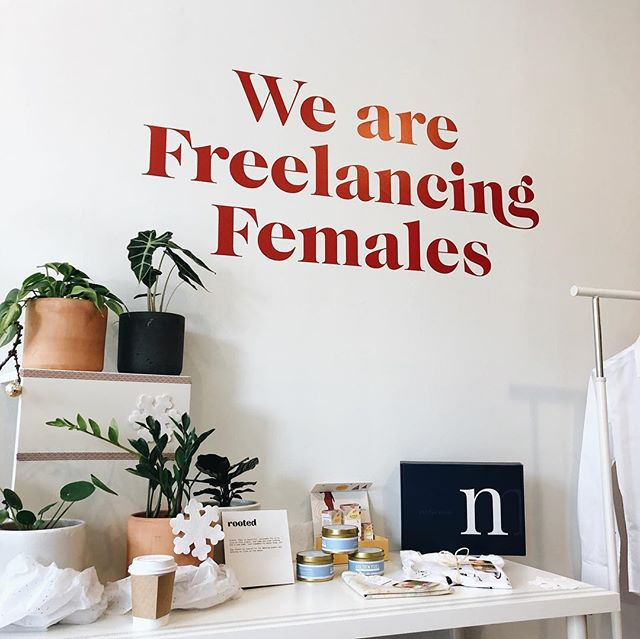 #NYC Who wants to come do their holiday shopping and hang out with me? Today at the @freelancingfemales pop-up we have: @thehaikuguys crafting some beautiful personal poems and @phoebecheongphotography snapping headshots 📷. Plus shopping & we just got our FF tote bags in!  We're open 9am-6pm today through Tuesday! 287 3rd Avenue, Brooklyn, New York