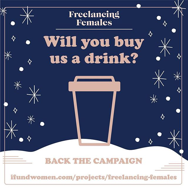 I launched my company, @freelancingfemales crowdfunding campaign today on @ifundwomen —will you buy us a drink? http://ifundwomen.com/projects/freelancing-females. If you have found a job, received an answer to a question, built community (or think you will in the future), please consider supporting FF. This community will remain free and open if we can continue to sustain it and launch our new website. The first few hours are so incredibly important, so please think about donating now! Share your coffee, wine or cocktail money with FF. Every little bit counts. We are so happy to have you a part of this incredible milestone. - Tia, Founder