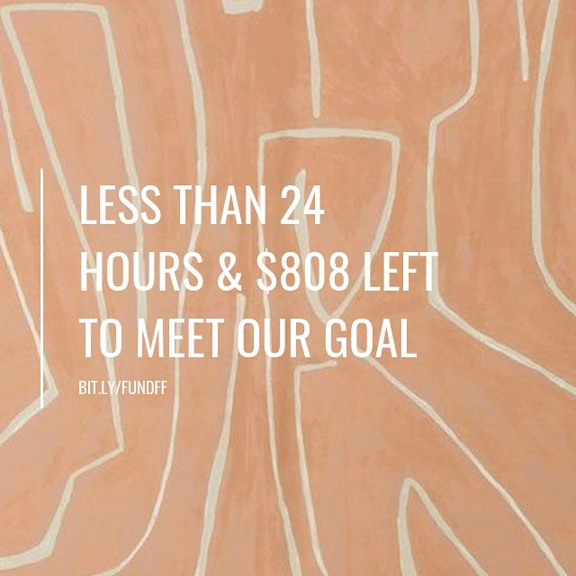 Today is the day! The last day of @freelancingfemales crowdfunding campaign & we only need $800 to meet our goal.  Will you help?  If you were hoping to grab an Instagram or Facebook feature, if you need a 1 hour consulting session or want to grab a directory spot before the price goes up this is your last chance!  @couturra is also sending anyone who spends over $20 a beautiful illustration.  Ifundwomen.com/projects/Freelancing-females (link in bio)  Thank you for your support as we work to build the future of freelance for women.