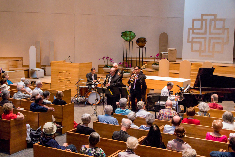 Ronny Whyte Sextet @ St. Peters.  Photo: Irina Hage