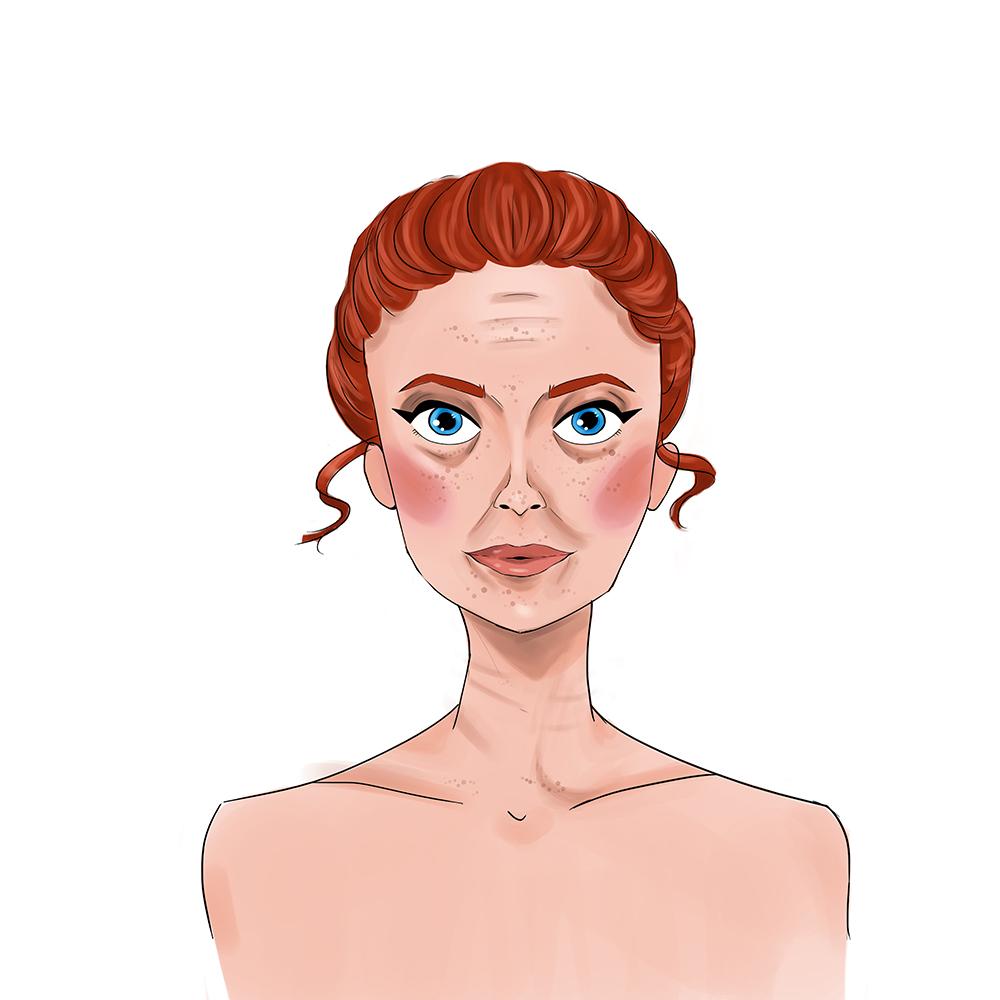premature wrinkling, uneven skin tone