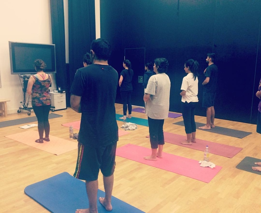 Finchley students practice their full YOGIC BREATHING - classes take place each Saturday morning 915am @ Wren Academy