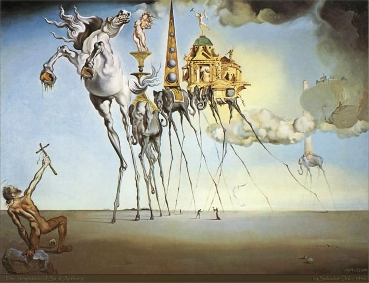 "Dali's ""The Temptation of St. Anthony"""
