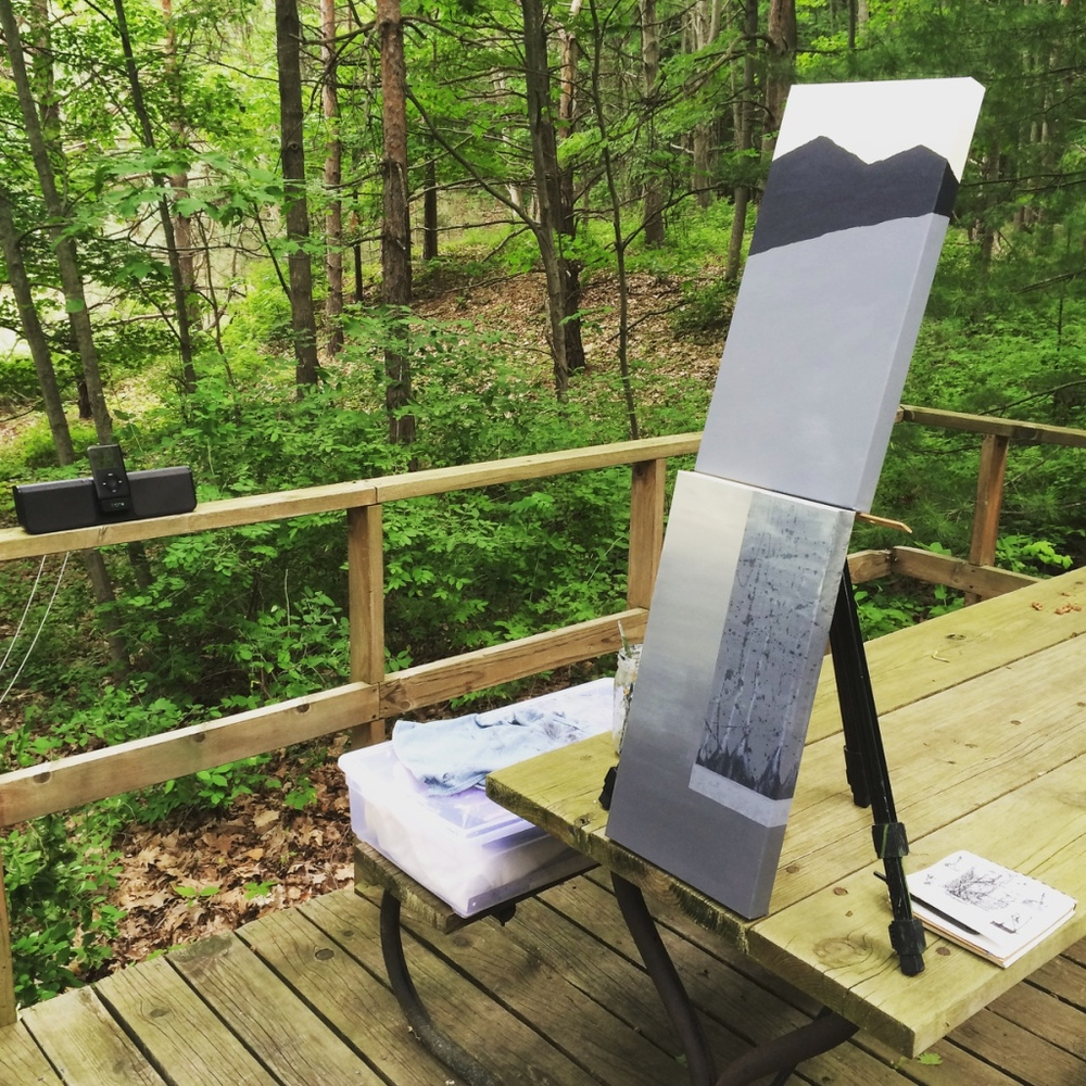 MOBILE STUDIO IN THE WOODS  |  GRAND HAVEN, MI
