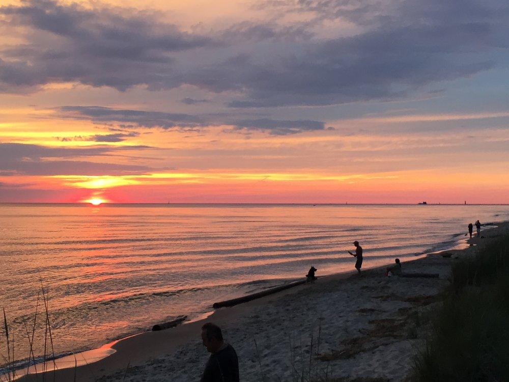 Those beach sunsets though. - June 2015 - Grand Haven, Michigan