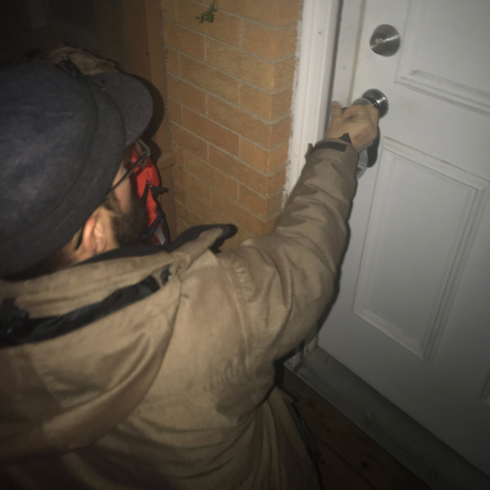 Unlocking the door for the first time on our new Michigan home  |  December  |  Glenn, MI