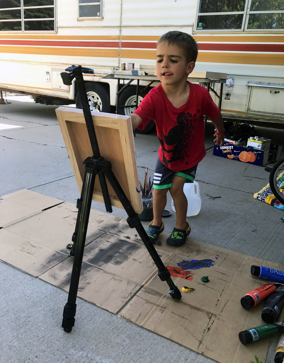 Putting that travel easel to work  |  Fort Collins, CO