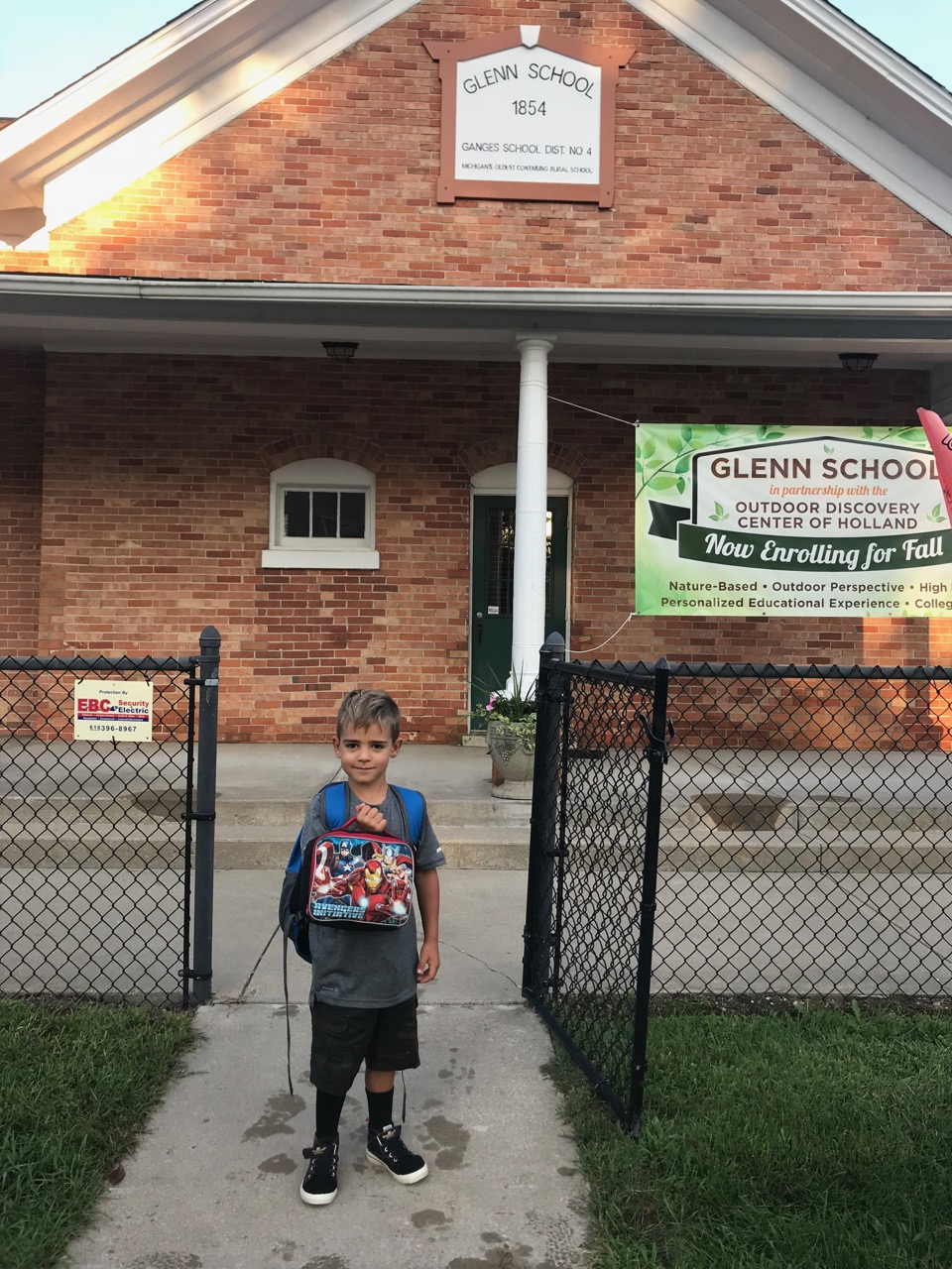 First day of kindergarten | Glenn, MI | September